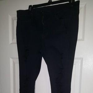 Express Black Mid Rise Legging - Long Length